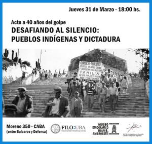 #40AñosDelGolpe – Desafiando el silencio: pueblos indígenas y dictadura