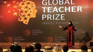 Palestinian wins best teacher in the world