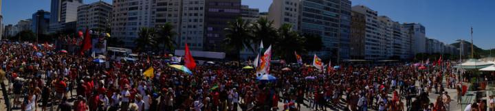 Fotos do Ato dos funkeiros contra o Golpe em Copacabana