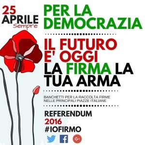 Il 25 aprile inizia la battaglia a difesa della Costituzione Antifascista