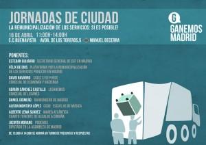 16A: Jornada de remunicipalización de servicios públicos en Madrid