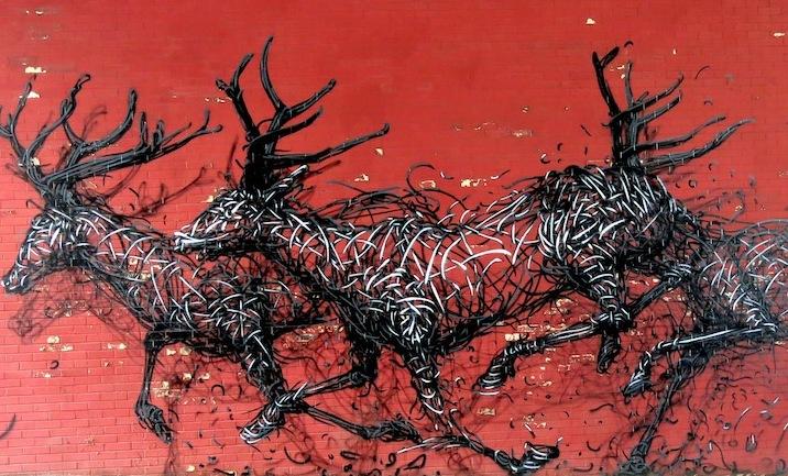 DALeast, carrera de ciervos, Nueva York, 2010