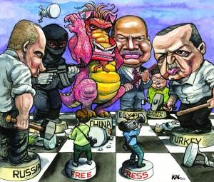 Pressefreiheit in der Türkei, Bericht von Freedom House