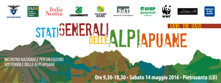 14 maggio: per un futuro sostenibile delle Alpi Apuane