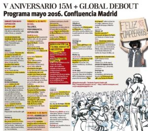 Se celebra quinto aniversario del 15M, asociado a Nuit Debout