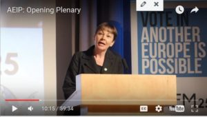 Another Europe is possible: opening plenary