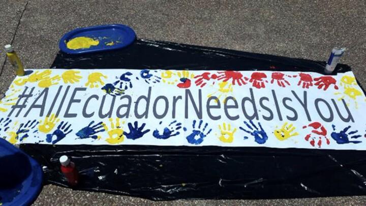 Solidarität für Erdbeben-Geschädigte in Ecuador
