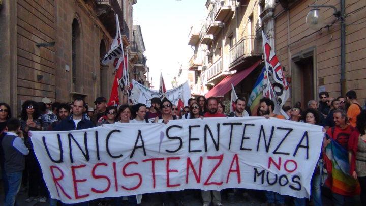 Manifestazione No Muos: unica sentenza resistenza