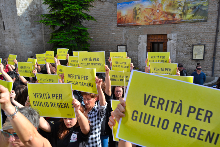 "Flash mob ""Verità per Giulio Regeni"""