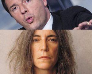 Matteo Renzi e Patti Smith sulla revisione della Costituzione