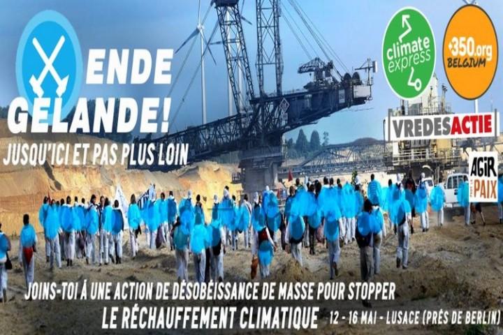 Ende Gelände ! du 13 au 15 mai, «climate camp» européen en Allemagne
