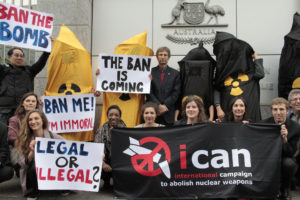 ICAN protests outside missions of governments reluctant to support ban