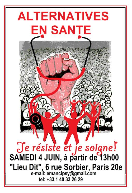 Paris, samedi 4 juin: « Alternatives en Santé : je résiste et je soigne ! »