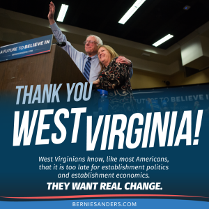 Bernie Sanders wins in West Virginia