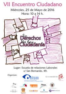 Encuentro en Madrid con el lema «Sin derechos no hay ciudadanía»