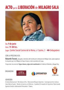 A Madrid chiederanno la liberazione di Milagro Sala