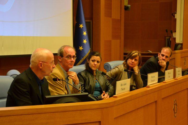 In Rom präsentiert sich das Komitee für die Freilassung von Milagro Sala