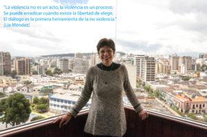 «El diálogo es la primera herramienta de la no violencia»: Lía Méndez