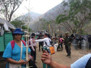 Represión paramilitar y policial contra activistas campesinos