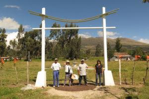 Inauguración de portal en Parque Aloasí
