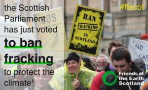 Il Parlamento scozzese dichiara: 'Senza se e senza ma, no al fracking'