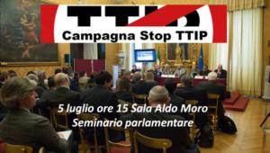 Roma: un seminario parlamentare per discutere di TTIP con la politica