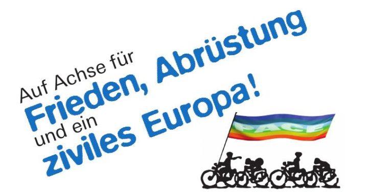 Friedensfahrradtour 2016 – Auf Achse für Frieden, Abrüstung und ein ziviles Europa!