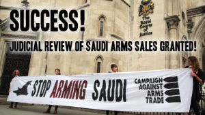 Permission granted for judicial review into legality of UK arms exports to Saudi Arabia