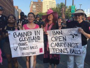 CodePink Protest: Ban Guns, Not Tennis Balls