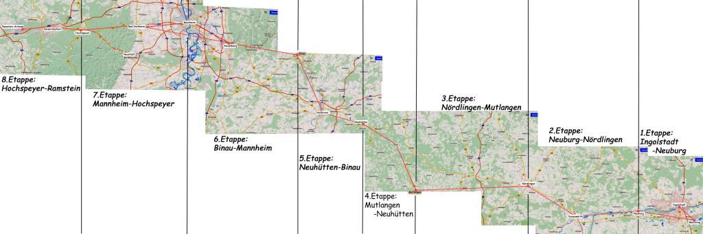 Route der Friedensfahrradtour 2016