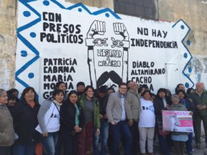 Con la inauguración de un mural se presentó el Comité por la libertad de Milagro Sala en Jujuy