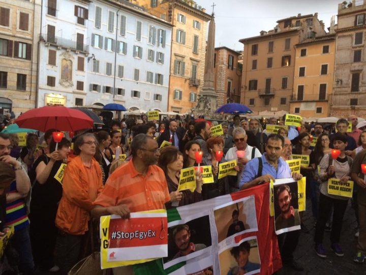 Συγκέντρωση στη μνήμη του Giulio Regeni στη Ρώμη: μια πολύ τρυφερή και ανθρώπινη στιγμή