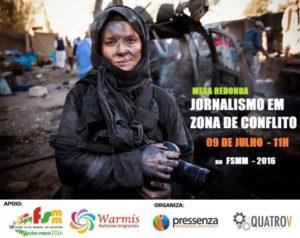 Fórum Social Mundial das Migrações terá debate sobre jornalismo em zonas de conflito