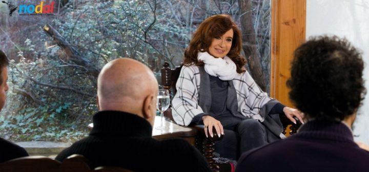 Encuentro de medios internacionales con la ex presidenta argentina Cristina Fernández de Kirchner
