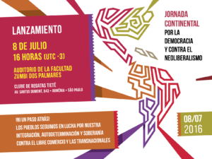 Launch event of the Continental Day for Democracy and Against Neoliberalism