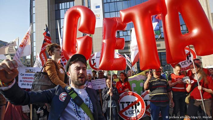 Manifestación en Madrid contra el CETA