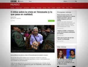 La BBC reconnaît qu'il y a «des représentations exagérées et des mythes» à propos de la crise au Venezuela