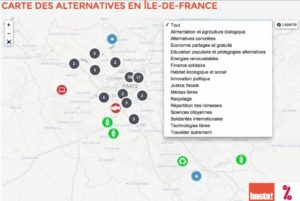La carte des alternatives en Île-de-France