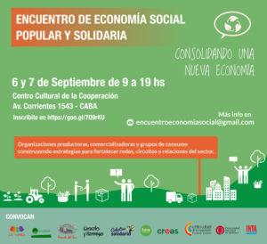 6 y 7 de septiembre tendrá lugar el Encuentro de Economía Social, Popular y Solidaria en Buenos Aires