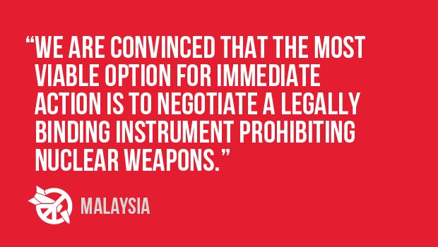 Report on the status of the nuclear weapons ban treaty negotiations