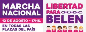 Convocan una marcha nacional en Argentina para pedir la liberación de Belén