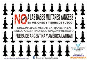 Convocan a conformar multisectorial para no permitir la instalación de bases norteamericanas en Argentina