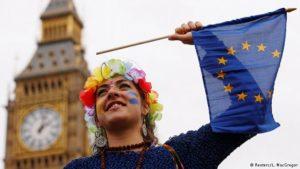 """Británicos protestan en masa contra el """"brexit"""""""