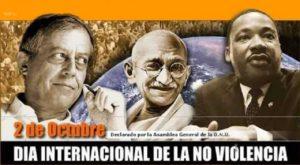 2 de Octubre de 2016: Día Internacional de la No-violencia