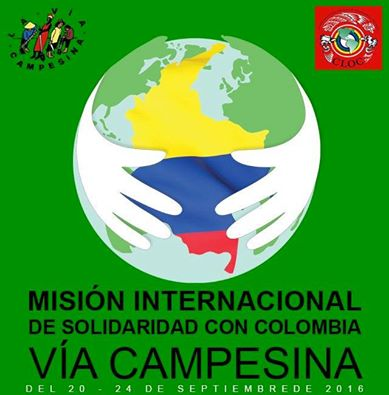 Misión Internacional de Solidaridad con Colombia verificará situación de los derechos campesinos