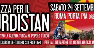 Roma 24 settembre, manifestazione per il Kurdistan
