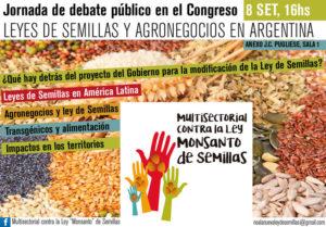 Jornada de debate público en el Congreso: «Leyes de semillas y agronegocios en Argentina»