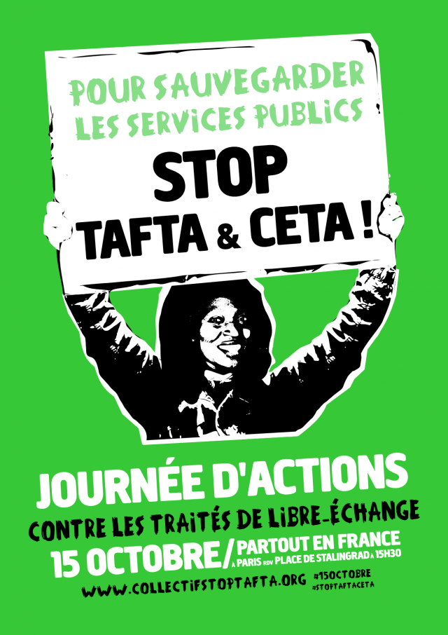 15 octobre : journée d'actions Stop TAFTA & CETA