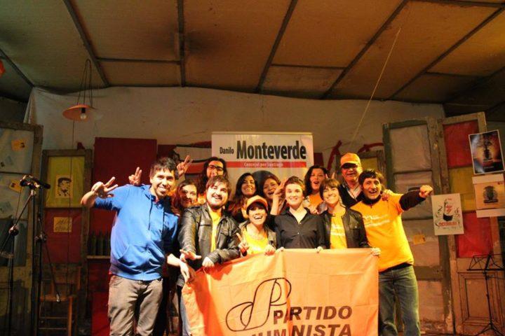 Danilo Monteverde en la etapa final de la campaña a Concejal por Santiago
