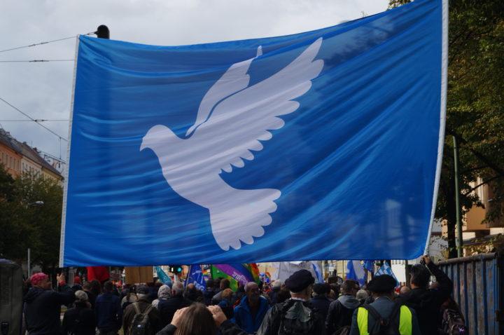 Se refuerza una vez más el Movimiento por la Paz en las calles de Berlin